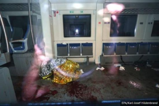 Axe Attack on Train