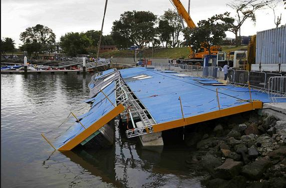 Rio Olympic Sailing Ramp Collapses